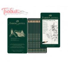 НАБОРЫ КАРАНДАШЕЙ 12шт.набор 2Н-8В метал.коробка 119065 FABER-CASTELL Германия