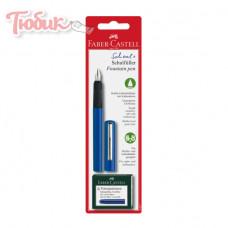 НАБОР ручка перьевая 6катриджей синяя 149811 FAB-CASТ Германия