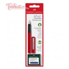 НАБОР ручка перьевая 6катриджей красная 149812 FAB-CASТ Германия
