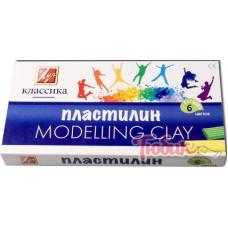 Пластилин ЛУЧ,классика 6 цветов 540222 Россия