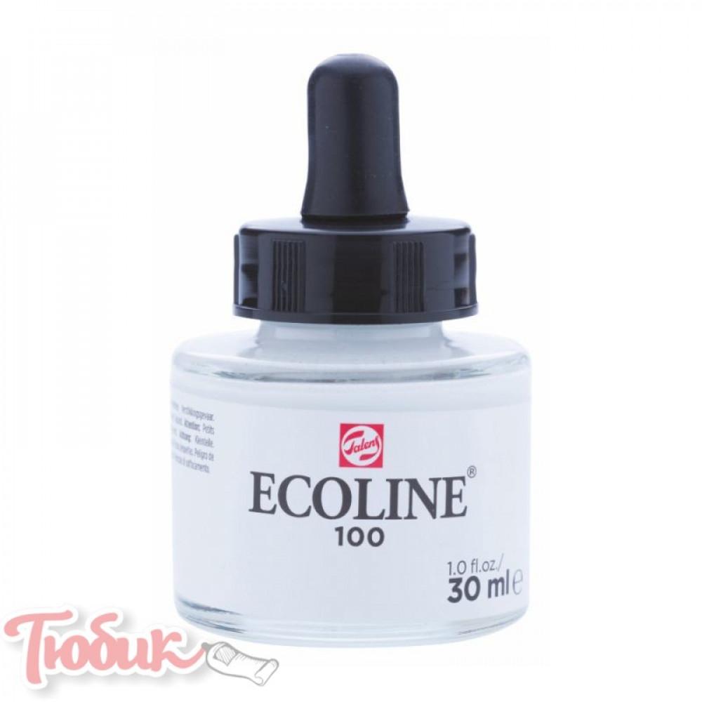 Краска акварельная жидкая Ecoline (100), Белая, 30 мл, Royal Talens