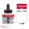 Тушь акриловая AMSTERDAM INK, (105) Белила титановые, 30мл, Royal Talens