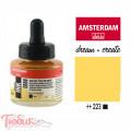 Тушь акриловая AMSTERDAM INK, (223) Неополитанский желтый темный, 30мл, Royal Talens