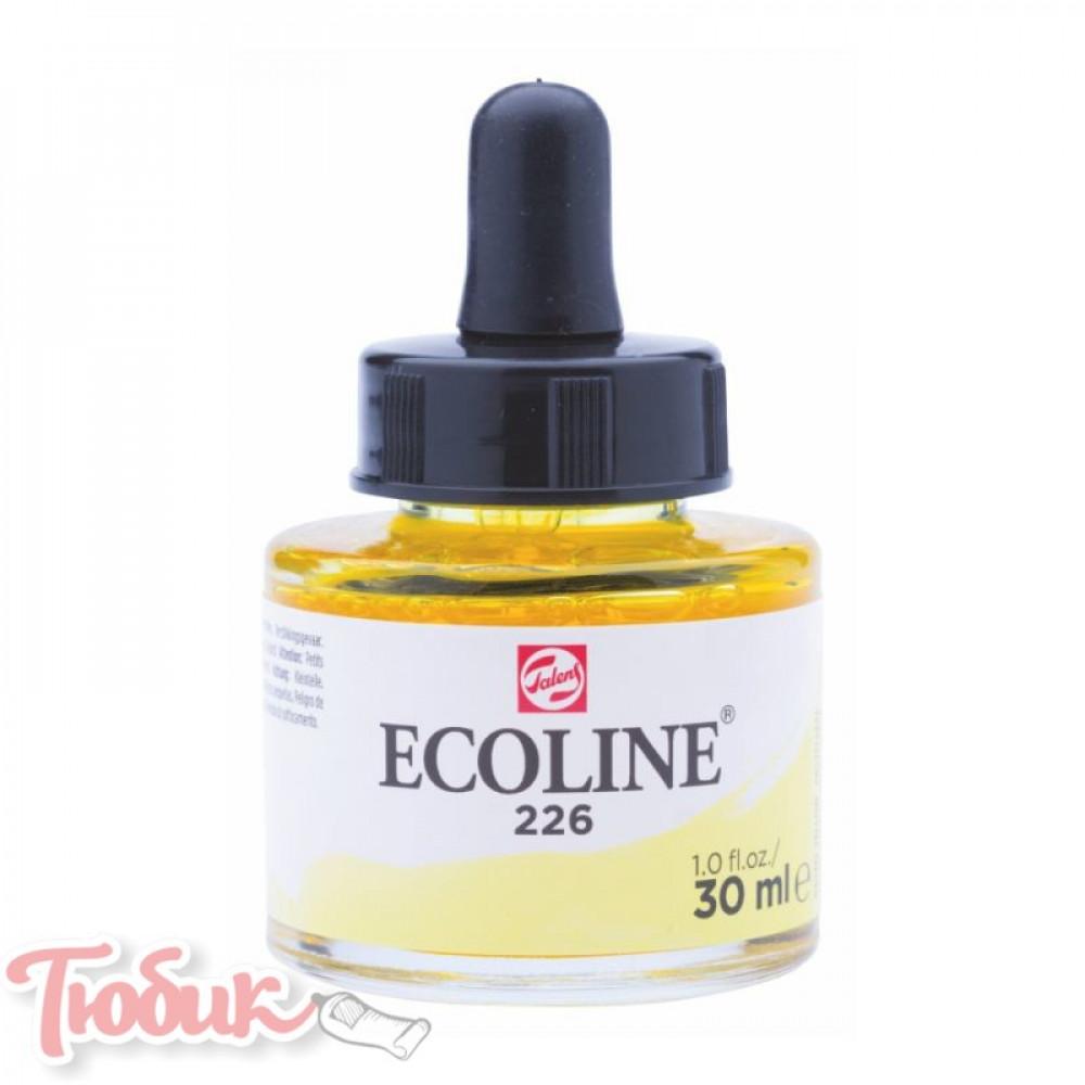 Краска акварельная жидкая Ecoline (226), Пастельная желтая, 30 мл, Royal Talens