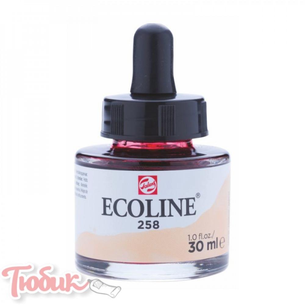 Краска акварельная жидкая Ecoline (258), Абрикосовая, 30 мл, Royal Talens
