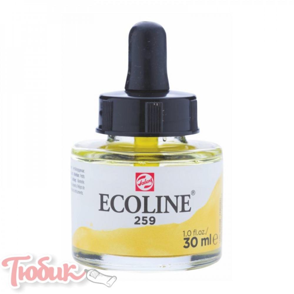 Краска акварельная жидкая Ecoline (259), Желтая песочная, 30 мл, Royal Talens