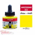 Тушь акриловая AMSTERDAM INK, (275) Первичный желтый, 30мл, Royal Talens