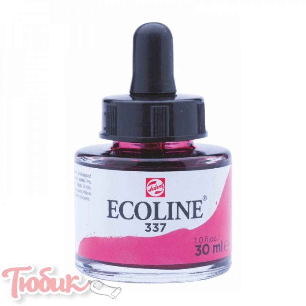 Краска акварельная жидкая Ecoline (337), Маджента, 30 мл, Royal Talens