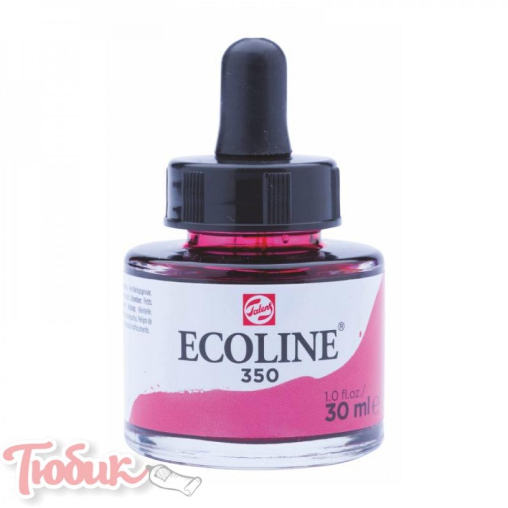 Краска акварельная жидкая Ecoline (350), Фуксия, 30 мл, Royal Talens