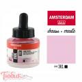 Тушь акриловая AMSTERDAM INK, (361) Розовый светлый, 30мл, Royal Talens
