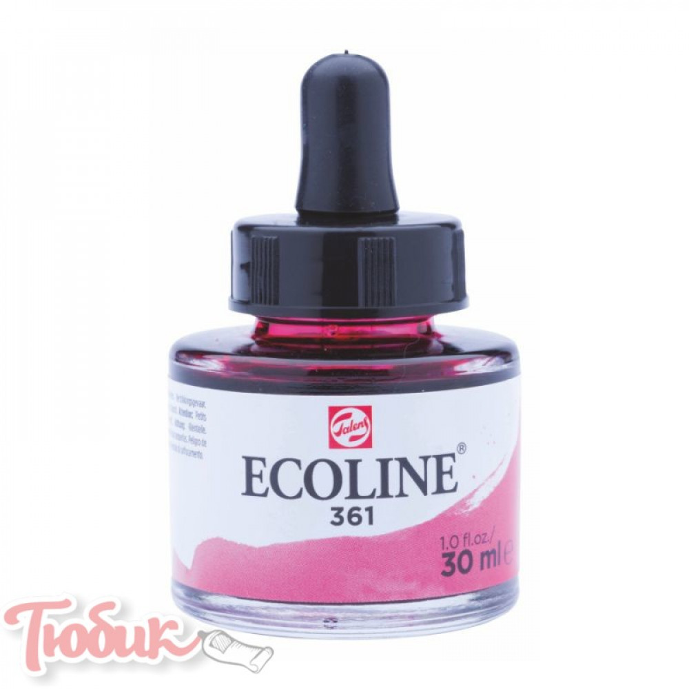 Краска акварельная жидкая Ecoline (361), Розовая светлая, 30 мл, Royal Talens