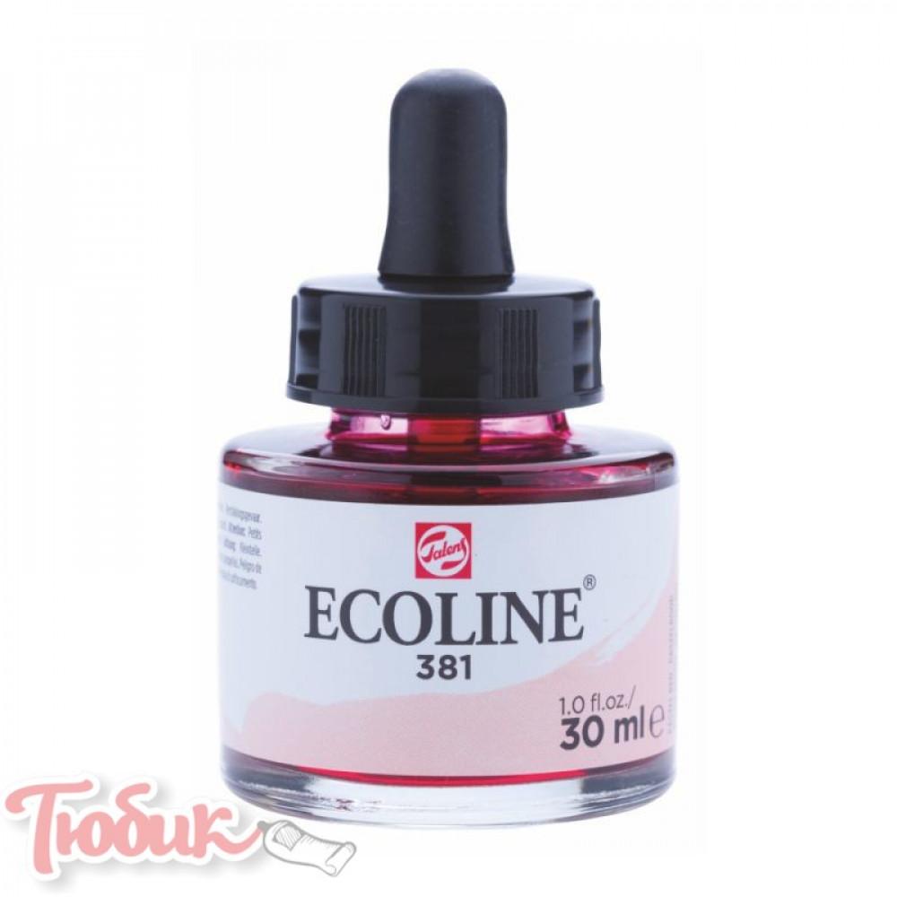 Краска акварельная жидкая Ecoline (381), Пастельная красная, 30 мл, Royal Talens