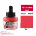 Тушь акриловая AMSTERDAM INK, (384) Отражающий розовый, 30мл, Royal Talens