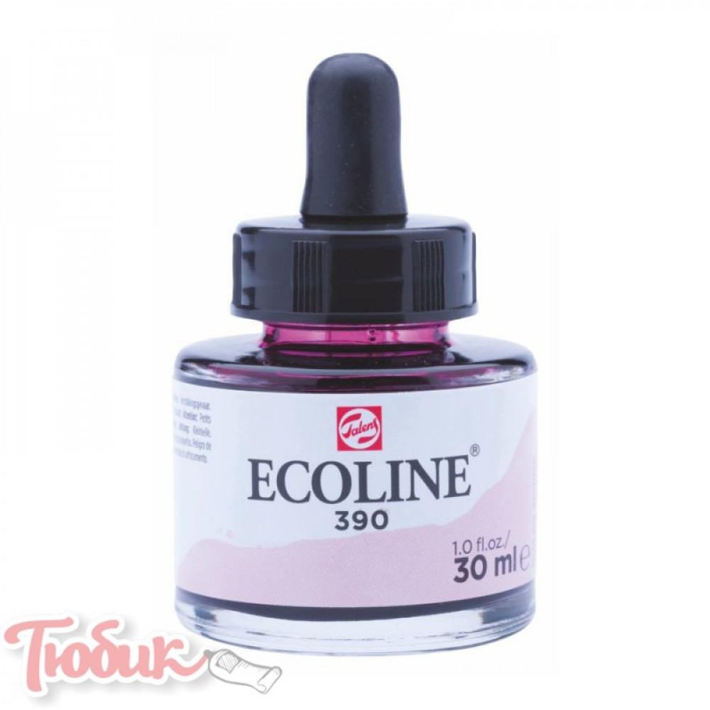 Краска акварельная жидкая Ecoline (390), Пастельная розовая, 30 мл, Royal Talens