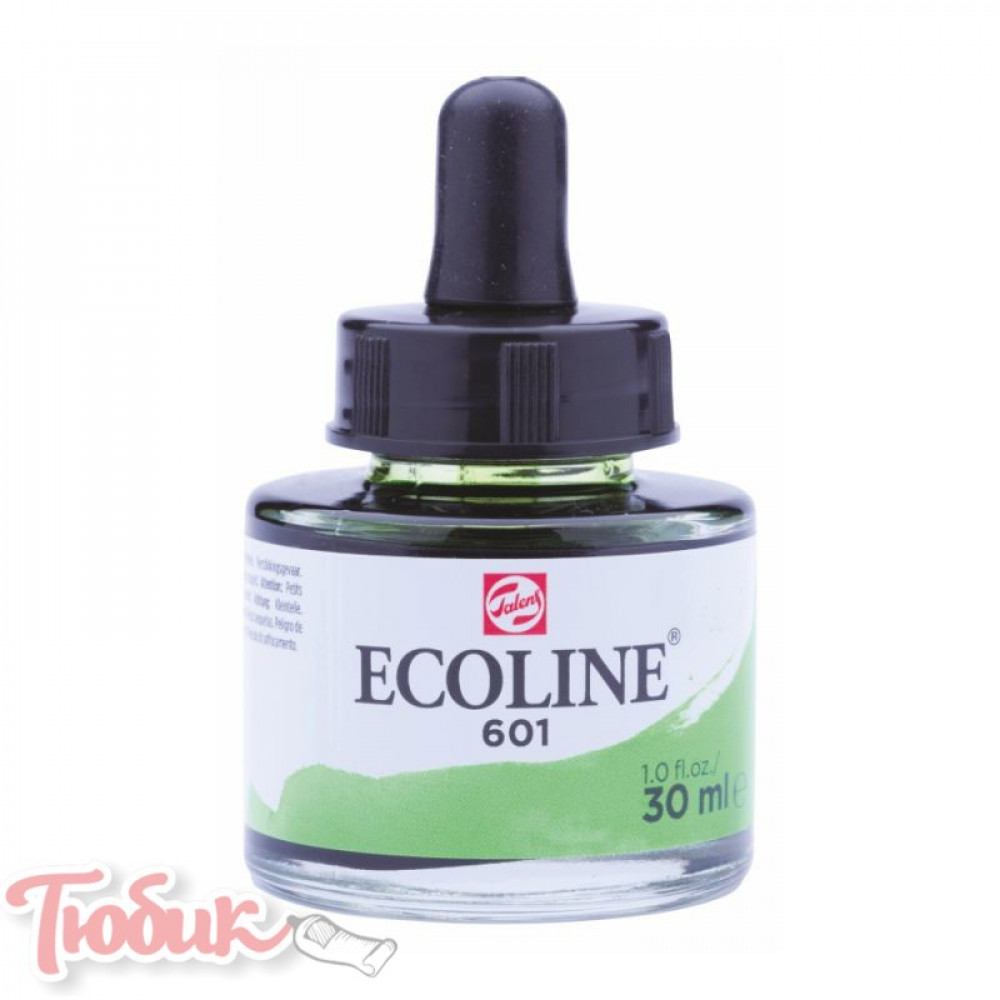 Краска акварельная жидкая Ecoline (601), Зеленая светлая, 30 мл, Royal Talens