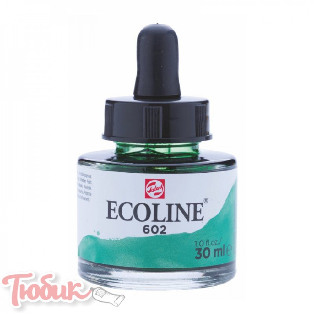 Краска акварельная жидкая Ecoline (602), Зеленая темная, 30 мл, Royal Talens