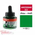 Тушь акриловая AMSTERDAM INK, (618) Перм. зеленый светлый, 30мл, Royal Talens