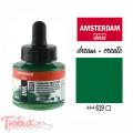 Тушь акриловая AMSTERDAM INK, (619) Перм. зеленый темный, 30мл, Royal Talens