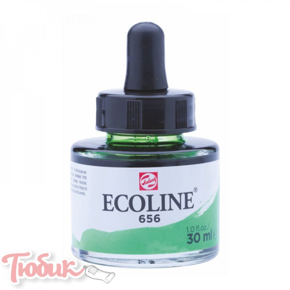 Краска акварельная жидкая Ecoline (656), Зеленая лесная, 30 мл, Royal Talens
