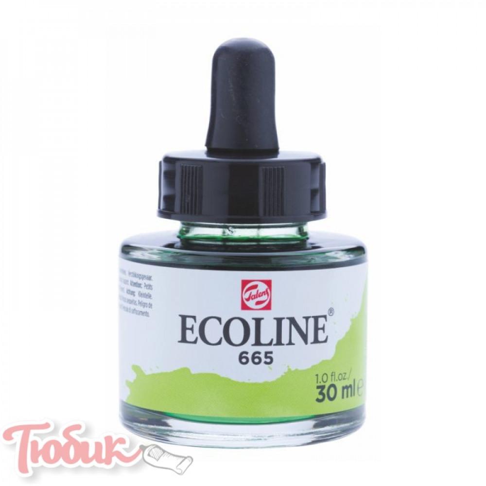 Краска акварельная жидкая Ecoline (665), Ярко-зеленая, 30 мл, Royal Talens