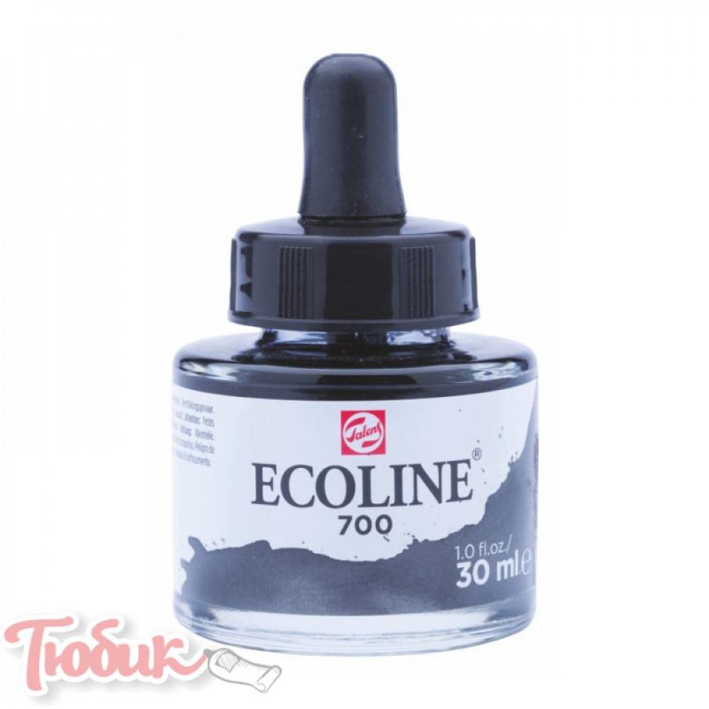Краска акварельная жидкая Ecoline (700), Черная, 30 мл, Royal Talens