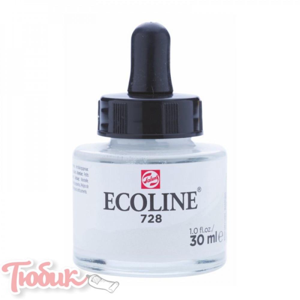 Краска акварельная жидкая Ecoline (728), Серая теплая светлая, 30 мл, Royal Talens