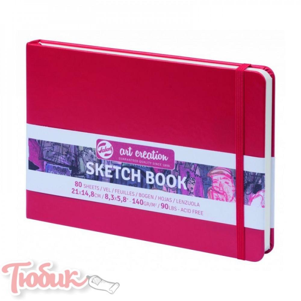 Блокнот для графики Talens Art Creation 140г/м² 14,8х21см, 80л, красный, Royal Talens