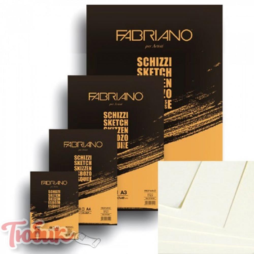 Склейка для эскизов Schizzi Sketch А5 (14,8х21см), 90г/м², 60л., Fabriano