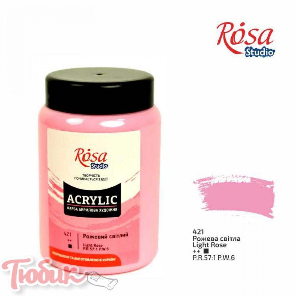 Краска акриловая, Розовая светлая, 400 мл, ROSA Studio
