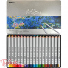 7100-36TN Карандаши цветн. 36 цв. шестигранные в метал. кор. «Raffine» Marco