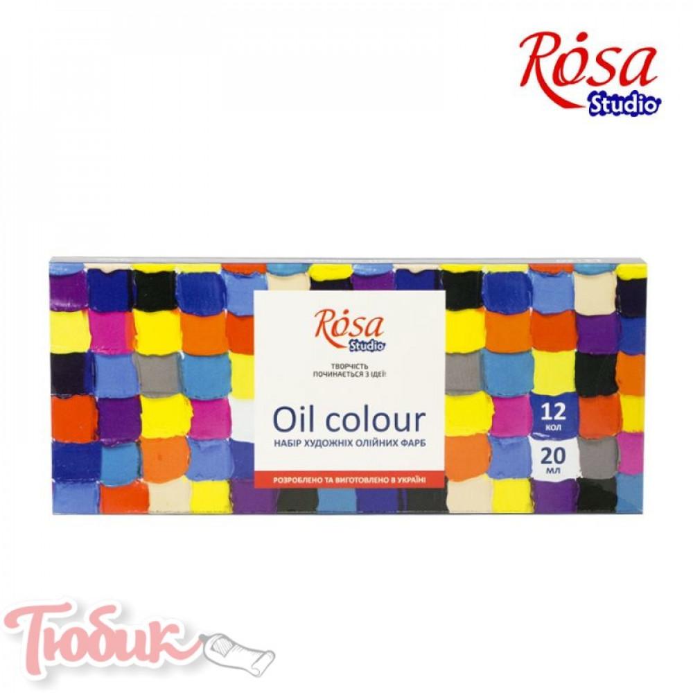 Набор масляных красок 12*20мл, ROSA Studio