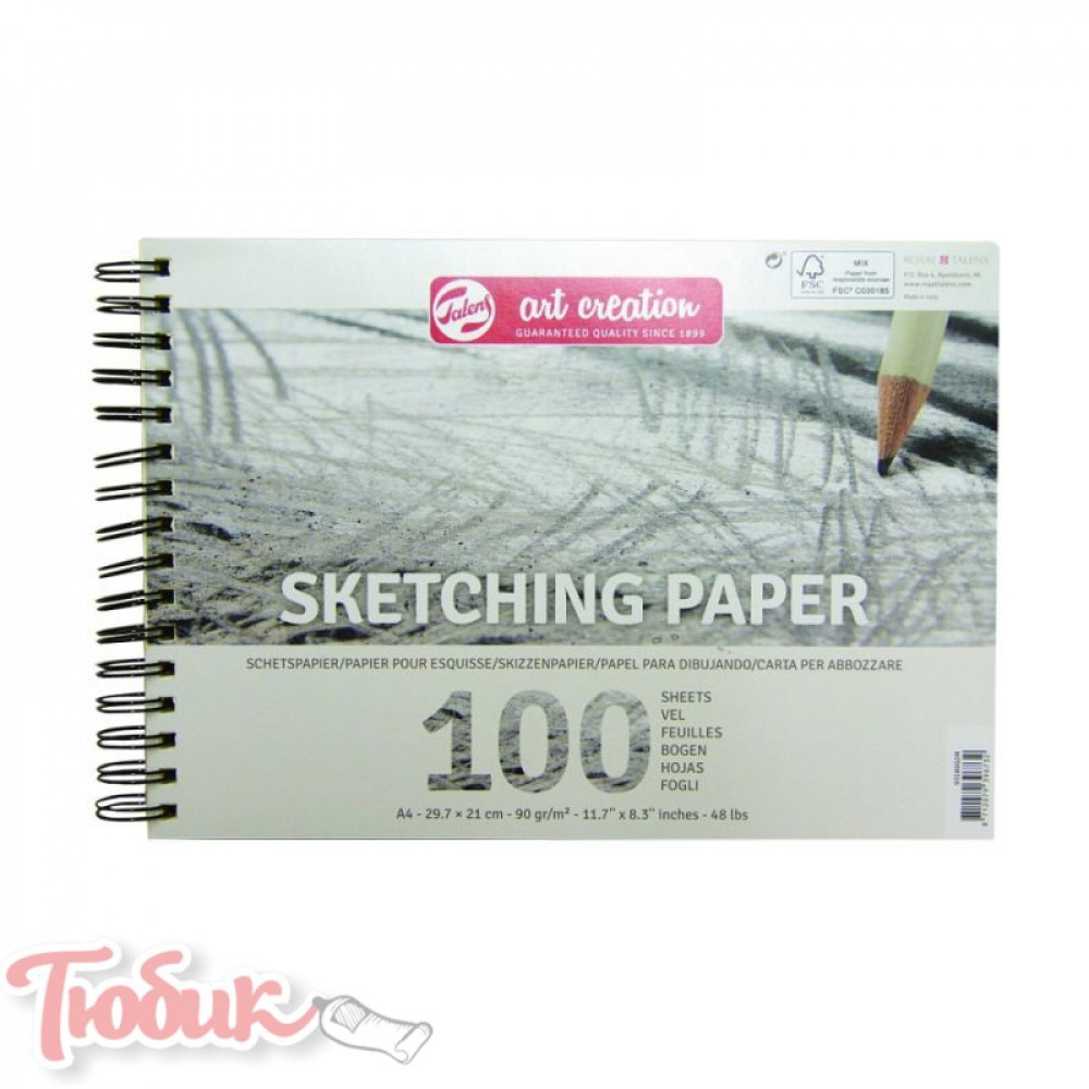 Альбом для рисунка на спирали Talens Art Creation 90г/м² А4, 100л., Royal Talens