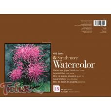 Блок для акварели 400 Series Watercolor 300г/м² (целлюлоза) 22.9*30.5см 15л склейка по 4 сторонам,Strathmore