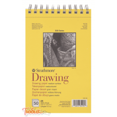 Альбом для графики 300 Series Drawing 114г/м² 14.8*21см 50л спираль по короткой стороне,Strathmore