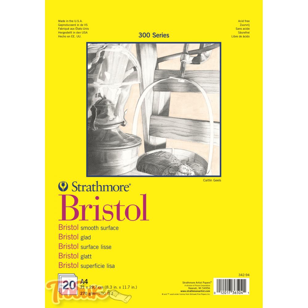 Альбом для графики 300 Series Bristol 270г/м² 21*29.7см 20л склейка по короткой стороне,Strathmore