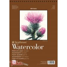 Альбом для акварели 400 Series Watercolor 300г/м² (целлюлоза) 22.9*30.5см 12л спираль по короткой стороне,Strathmore