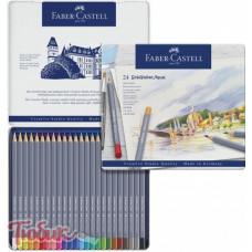 Акварельные карандаши Goldfaber Aqua 24 цвета,Faber-Castell