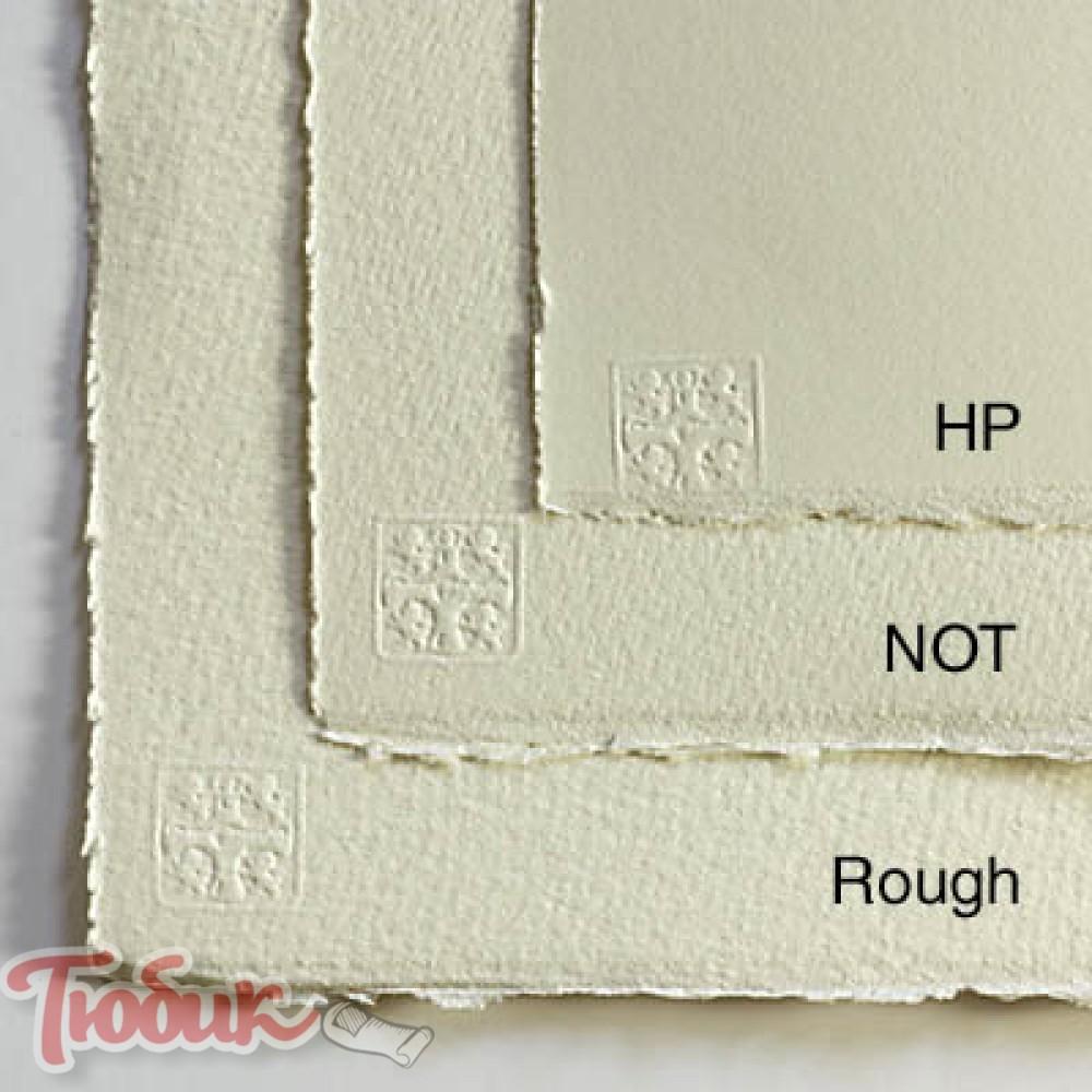 Бумага акварельная 100% хлопок Saunders Waterford HIGH WHITE HP B2 (56*76см), 190г/м²,мелкое зерно,снежно белий,St Cuthberts Mill
