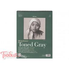 Блокнот для зарисовок 400 Series Toned Sketch Gray 118г/м² 22.9*30.5см 50л спираль,Strathmore
