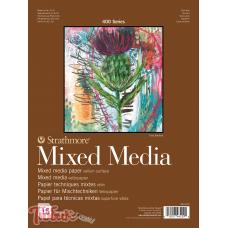 Альбом для смешанных техник 400 Series Mixed Media 300г/м² 15.2*20.3см 15л склейка по 1 стороне,Strathmore