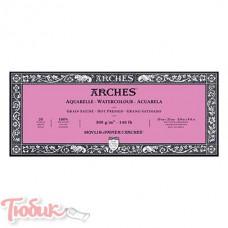 Блок для акварели Arches Hot Pressed 300 гр,10х25см, 20 листов,100%хлопок