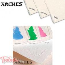 Бумага акварельная 100% хлопок горячего прессования Arches Hot Pressed, 56x76 см,300гр