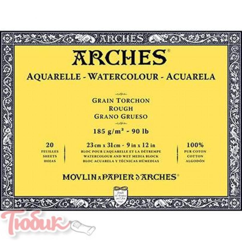 Блок для акварели крупнозернистый Arches Rough Grain 300 гр, 14,8x21см, 12листов,100%хлопок