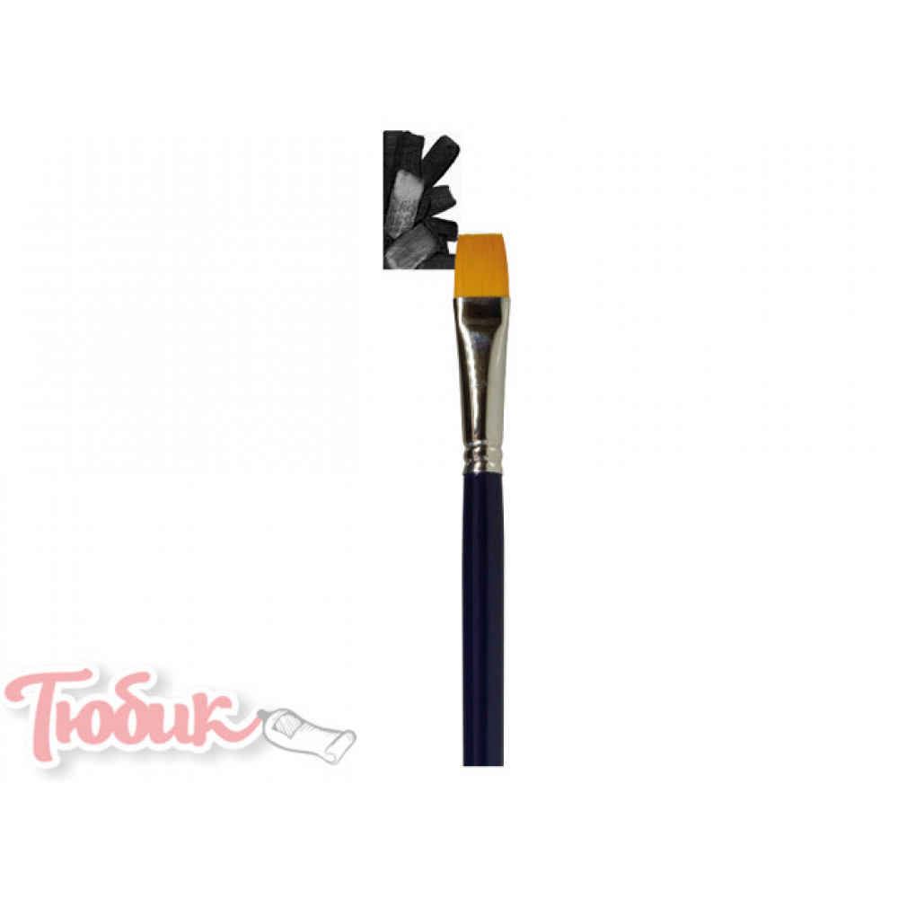 Кисть Van Gogh серия 194 для акварели синтетика плоская №16 короткая ручка