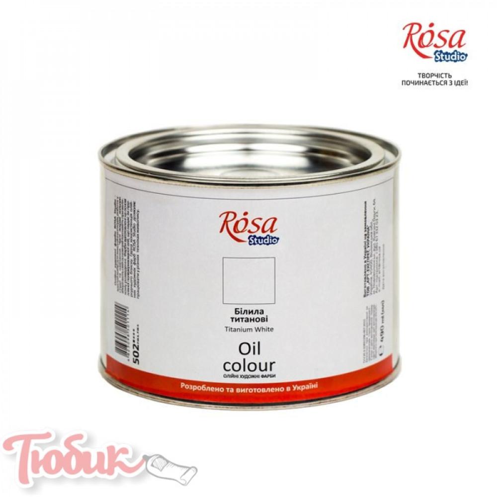 Краска масляная, Белила титановые, 490мл, ROSA Studio