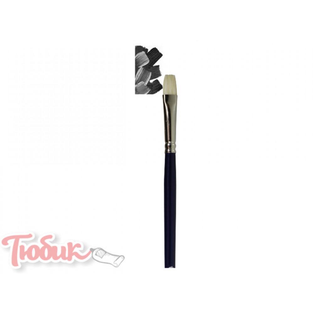 Кисть Van Gogh серия 210 для масла акрила щетина плоская №4 длинная ручка