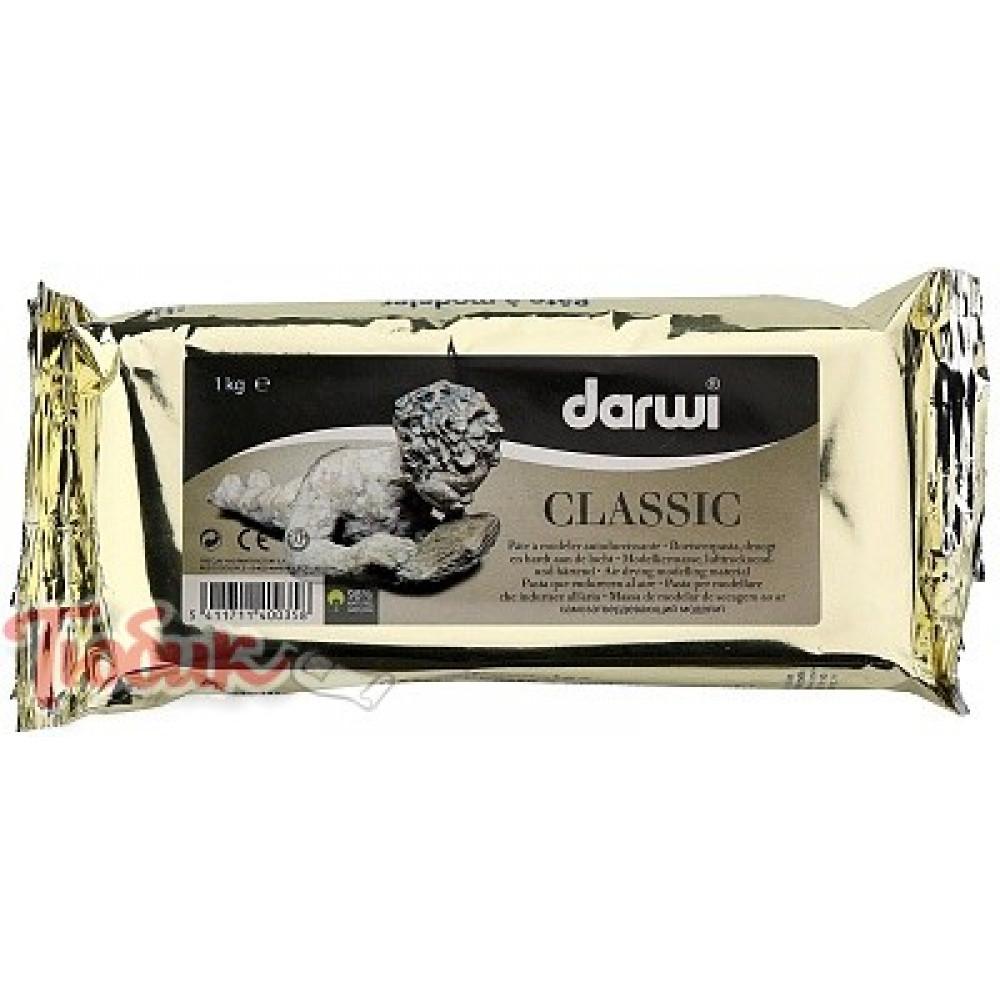 Самозатвердевающая глина DARWI CLASSIC, белый, 1000г