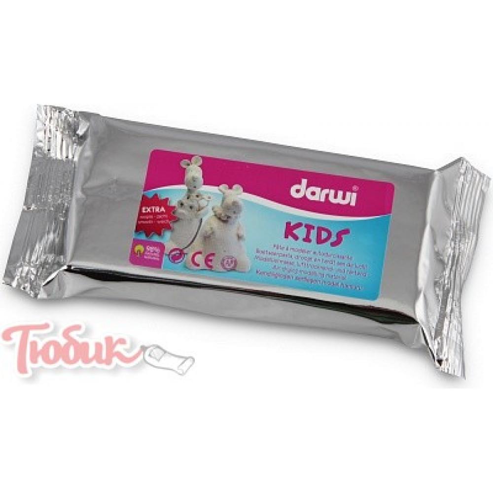Самозатвердевающая глина DARWI KIDS, белый, 1000г