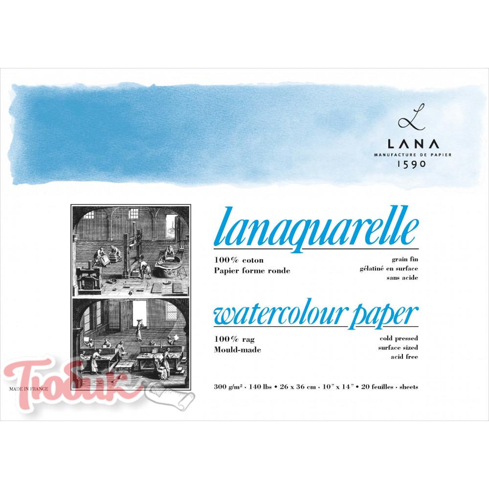 Склейка акварельная Lanaquarelle cold pressed, 300г matt , 23x31 см , 20 sheets Код: 15023350